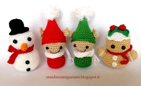 Mai dire Amigurumi - Pupazzi di Natale